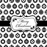 Zwarte en Kerstmis het verpakken Stock Foto's