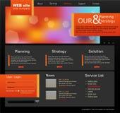 Zwarte en oranje VectorWebsite voor zaken Stock Afbeeldingen