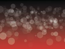 Zwarte en Rode bokehachtergrond Stock Fotografie