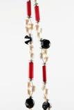 Zwarte en rode halsband Royalty-vrije Stock Foto