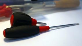 Zwarte en rode schroevedraaier twee Royalty-vrije Stock Afbeelding