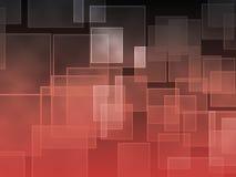 Zwarte en rode vierkante gradiëntachtergrond Royalty-vrije Stock Foto