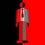 Zwarte en rood stock illustratie