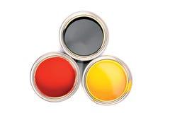 Zwarte en rood en geel royalty-vrije stock afbeelding