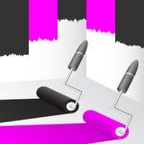 Zwarte en roze verf. Royalty-vrije Stock Foto's