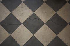 Zwarte en whede oude de textuurachtergrond van de vloertegel stock foto's