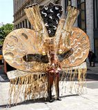 Zwarte en Zilveren het Hoofddekselvrouw van Atlanta Carnaval Stock Afbeeldingen