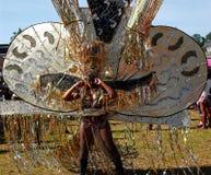 Zwarte en Zilveren het Hoofddekselvrouw 2 van Atlanta Carnaval Royalty-vrije Stock Foto