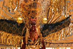 Zwarte en Zilveren het Hoofddekselvrouw 3 van Atlanta Carnaval Stock Foto