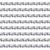 Zwarte en zilveren horizontale gestreept van de schaduwdriehoek met polka  Royalty-vrije Stock Foto