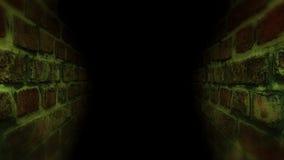 Zwarte enge gang Het lopen in de donkere gang Royalty-vrije Stock Fotografie