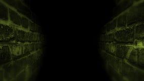 Zwarte enge gang Het lopen in de donkere gang Stock Afbeeldingen