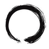 Zwarte Enso Zen Vector Brush Royalty-vrije Stock Afbeeldingen