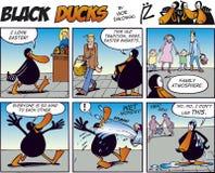 Zwarte episode 41 van het Stripverhaal van Eenden Royalty-vrije Stock Afbeeldingen
