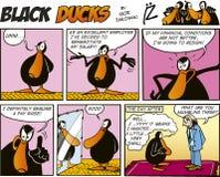 Zwarte episode 56 van de Strippagina van Eenden Stock Afbeelding