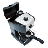 Zwarte espressomachine royalty-vrije stock foto