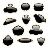 Zwarte etiketten Royalty-vrije Stock Foto