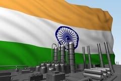 Zwarte fabriek voor vlag India stock illustratie