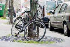 Zwarte fiets Stock Afbeeldingen
