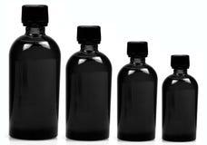 Zwarte flessen Stock Foto's