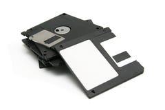Zwarte floppy disks Royalty-vrije Stock Foto's