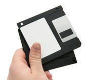 Zwarte floppy disks ter beschikking Royalty-vrije Stock Foto's