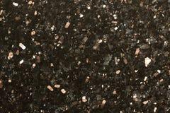 Zwarte fonkeling opgepoetste graniet abstracte achtergrond Stock Foto