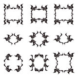 Zwarte frames Stock Foto
