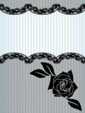 Zwarte Franse kantachtergrond Royalty-vrije Stock Afbeeldingen