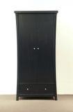 Zwarte garderobe Stock Foto's