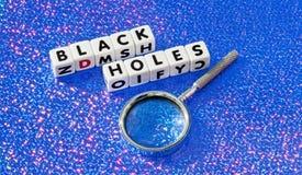 Zwarte gaten Royalty-vrije Stock Foto's