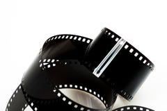 Zwarte geïsoleerde fotofilm royalty-vrije stock afbeeldingen