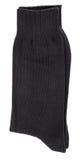 Zwarte geïsoleerde gevouwen sokken royalty-vrije stock afbeeldingen