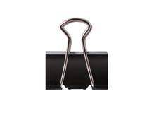 Zwarte geïsoleerde Paperclip. Royalty-vrije Stock Foto