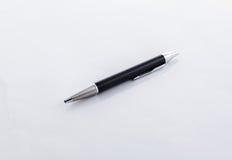 Zwarte geïsoleerde pen Royalty-vrije Stock Fotografie
