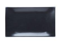 Zwarte geïsoleerde plaat Royalty-vrije Stock Foto's