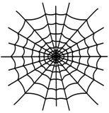 Zwarte geïsoleerde spiderweb Royalty-vrije Stock Fotografie