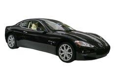 Zwarte geïsoleerde$ sportwagen Royalty-vrije Stock Afbeeldingen