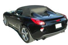Zwarte Geïsoleerde Sportwagen Royalty-vrije Stock Foto