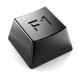 Zwarte geïsoleerde toetsenbordknoop Stock Foto
