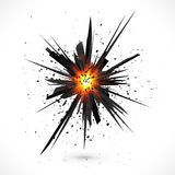 Zwarte geïsoleerde vectorexplosie met deeltjes Royalty-vrije Stock Foto's