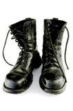 Zwarte geïsoleerde8 laarzen, Stock Afbeelding