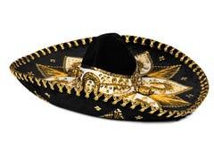 Zwarte geïsoleerdea sombrero stock foto's