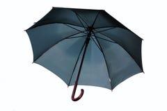 Zwarte geïsoleerdee paraplu Stock Foto