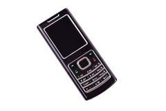 Zwarte geïsoleerdm mobiel Royalty-vrije Stock Foto