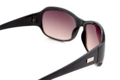 Zwarte gekleurde zonnebril Stock Afbeelding