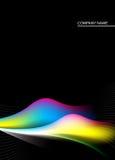 Zwarte, gele, blauwe, roze en groene achtergrond vector illustratie