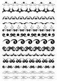 Zwarte geometrische elementen voor ontwerp Stock Foto's