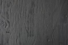 Zwarte geschilderde houten textuur, achtergrond en behang Royalty-vrije Stock Afbeeldingen