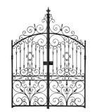 Zwarte gesmede poort Royalty-vrije Stock Afbeelding